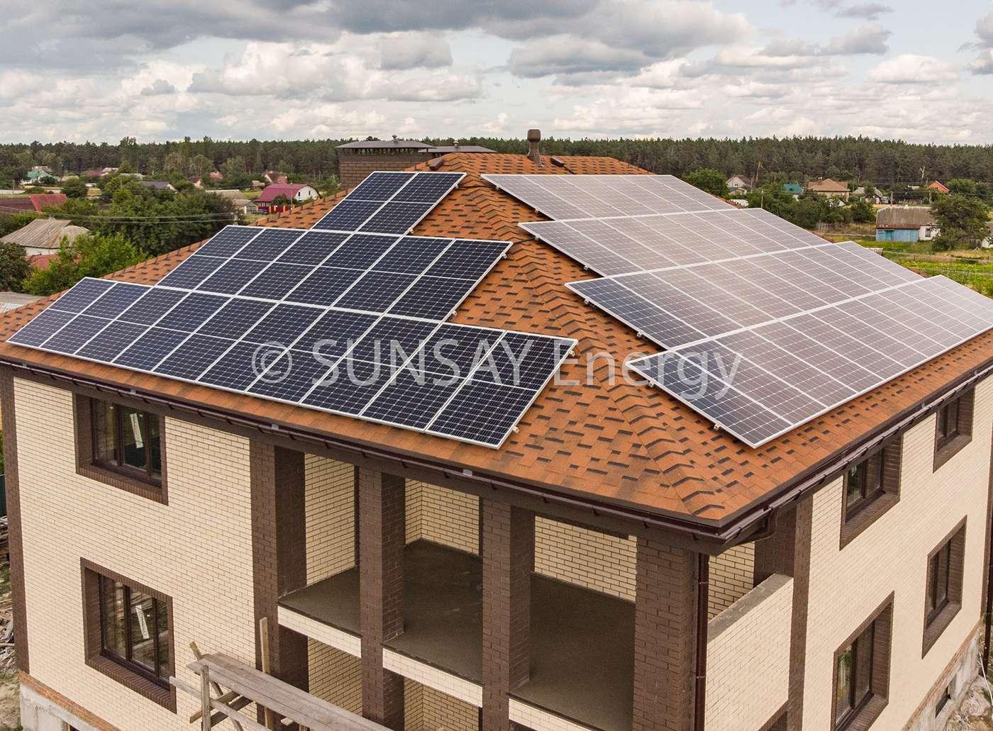 Установка сетевой солнечной электростанции (с.Лебедевка)